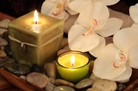 soy candles and orchids